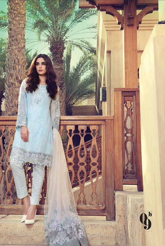 Maria B Embroidered Lawn Unstitched 3 Piece Suit MB17L 9B