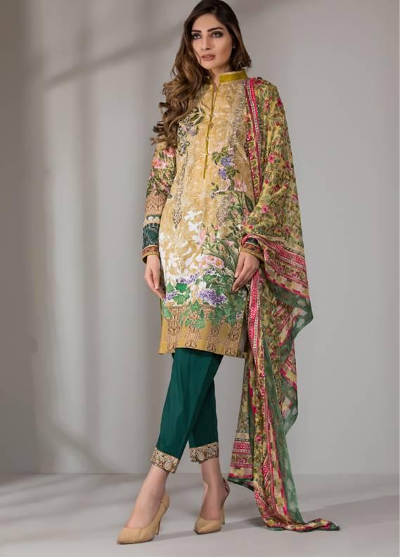 Mahrukh By ZS Embroidered Cotton Unstitched 3 Piece Suit ME18D 03