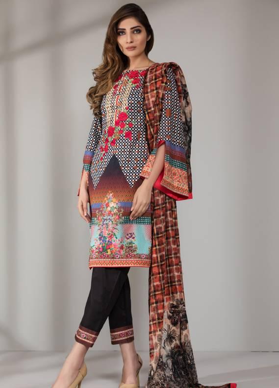 Mahrukh By ZS Embroidered Cotton Unstitched 3 Piece Suit ME18D 04