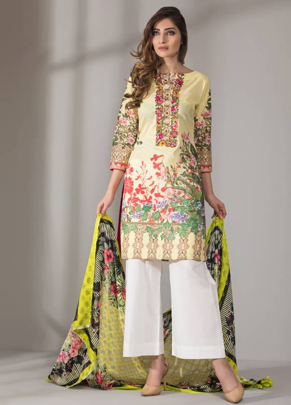 Mahrukh By ZS Embroidered Cotton Unstitched 3 Piece Suit ME18D 13