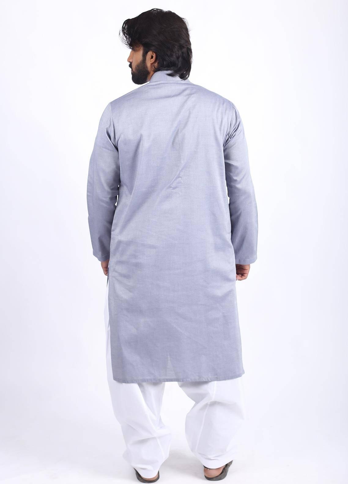 Sanaulla Exclusive Range Cotton Formal Kurtas for Men - Purple SAM18K 03