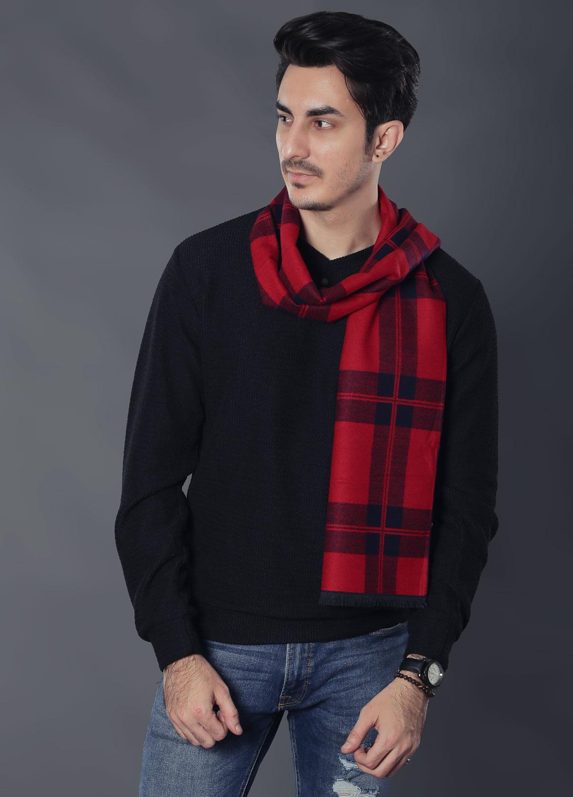 Sanaulla Exclusive Range Woollen Muffler 19-Multi-15 - Winter Collection