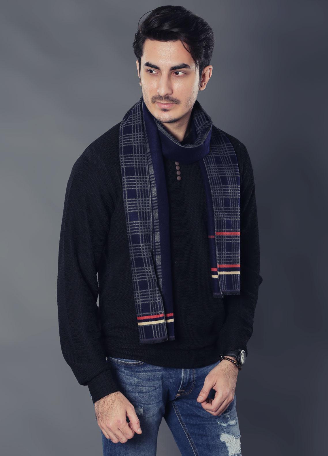 Sanaulla Exclusive Range Woollen Muffler 19-Multi-9 - Winter Collection