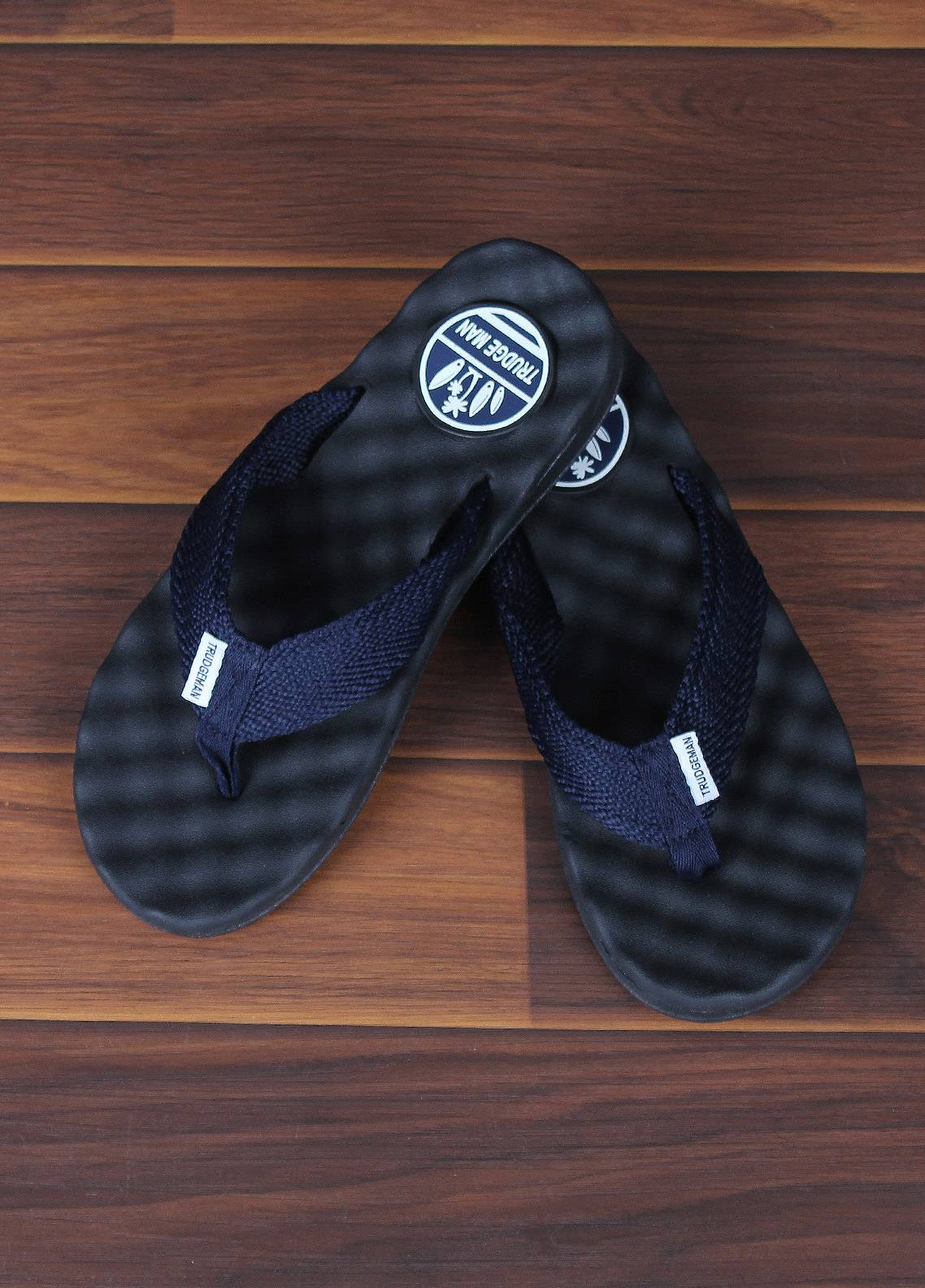 Sanaulla Exclusive Range  Rubber Flip Flops For Men 1658 Blue