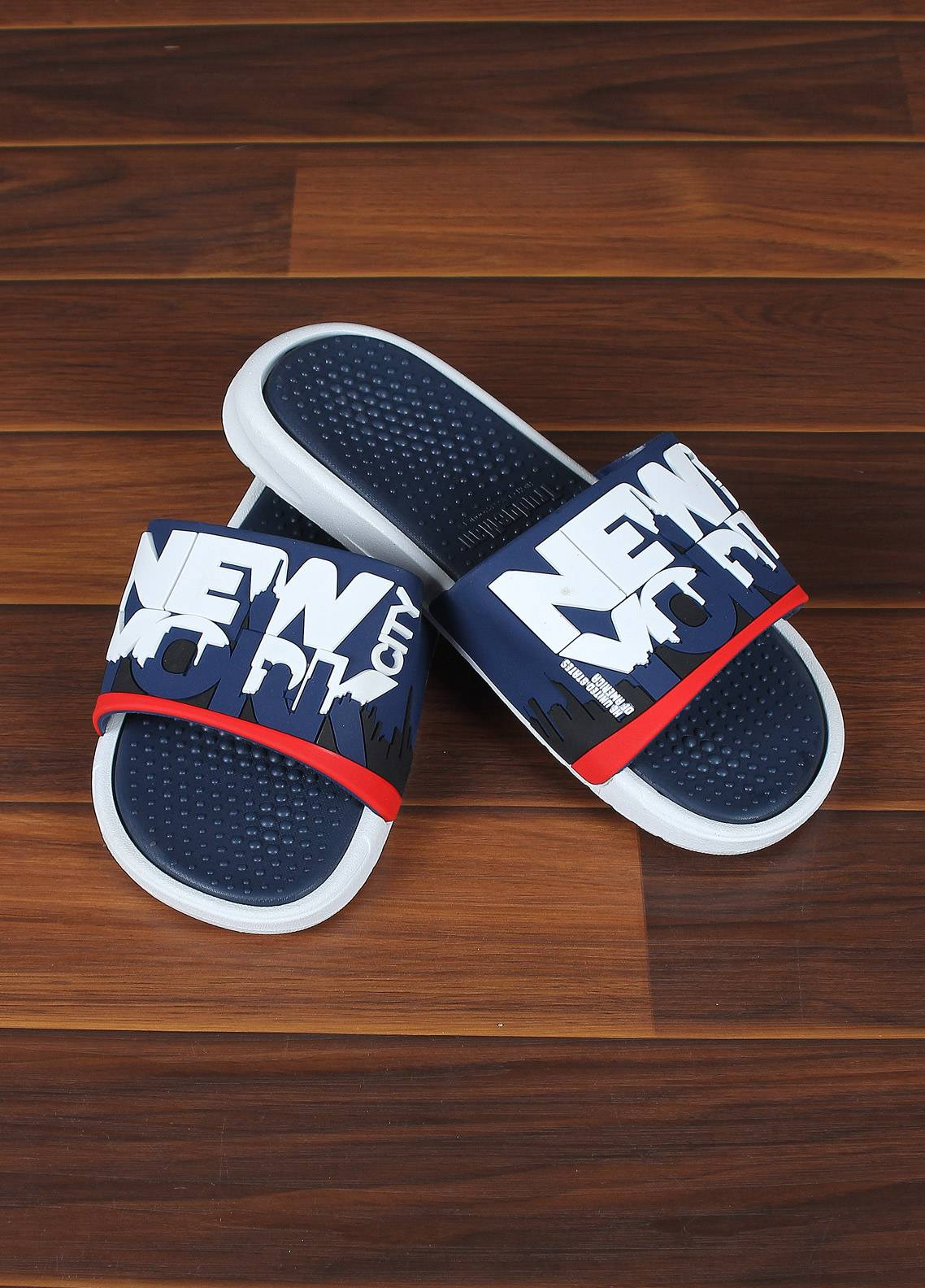 Sanaulla Exclusive Range  Rubber Flip Flops For Men 1716 Blue