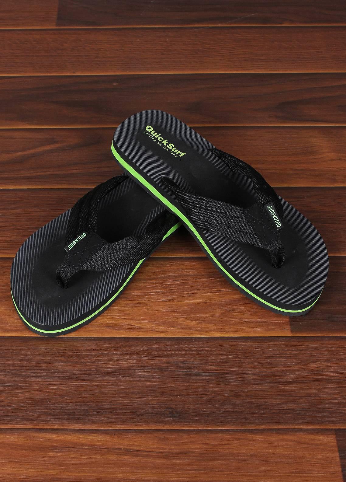 Sanaulla Exclusive Range  Rubber Flip Flops For Men 2319 Black