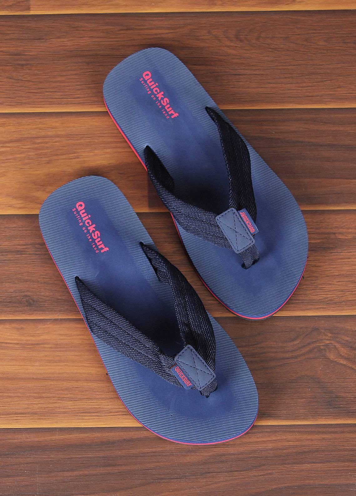 Sanaulla Exclusive Range  Rubber Flip Flops For Men 2319 Blue