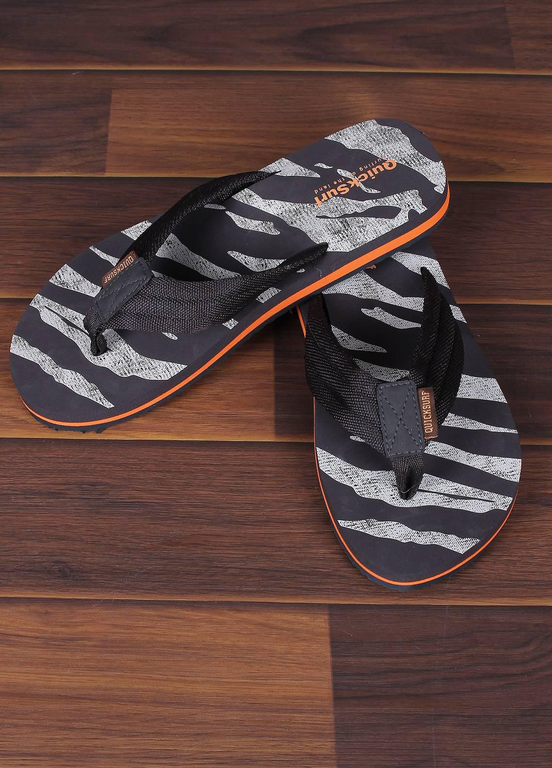 Sanaulla Exclusive Range  Rubber Flip Flops For Men 2347 Brown