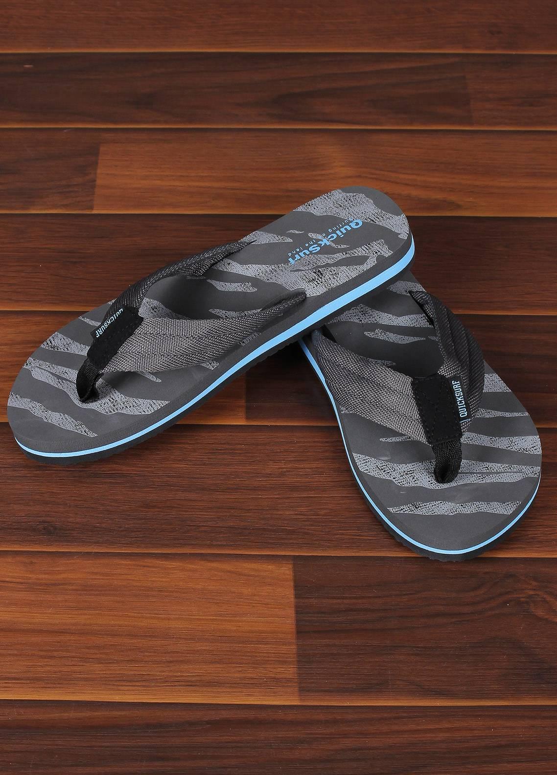 Sanaulla Exclusive Range  Rubber Flip Flops For Men 2347 Grey