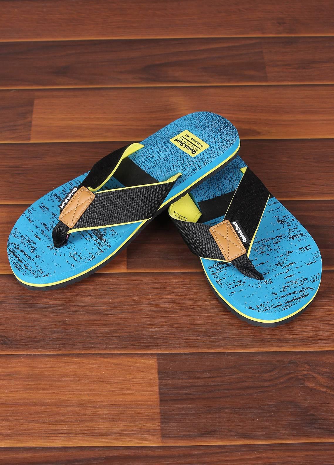 Sanaulla Exclusive Range  Rubber Flip Flops For Men 2368 Yellow