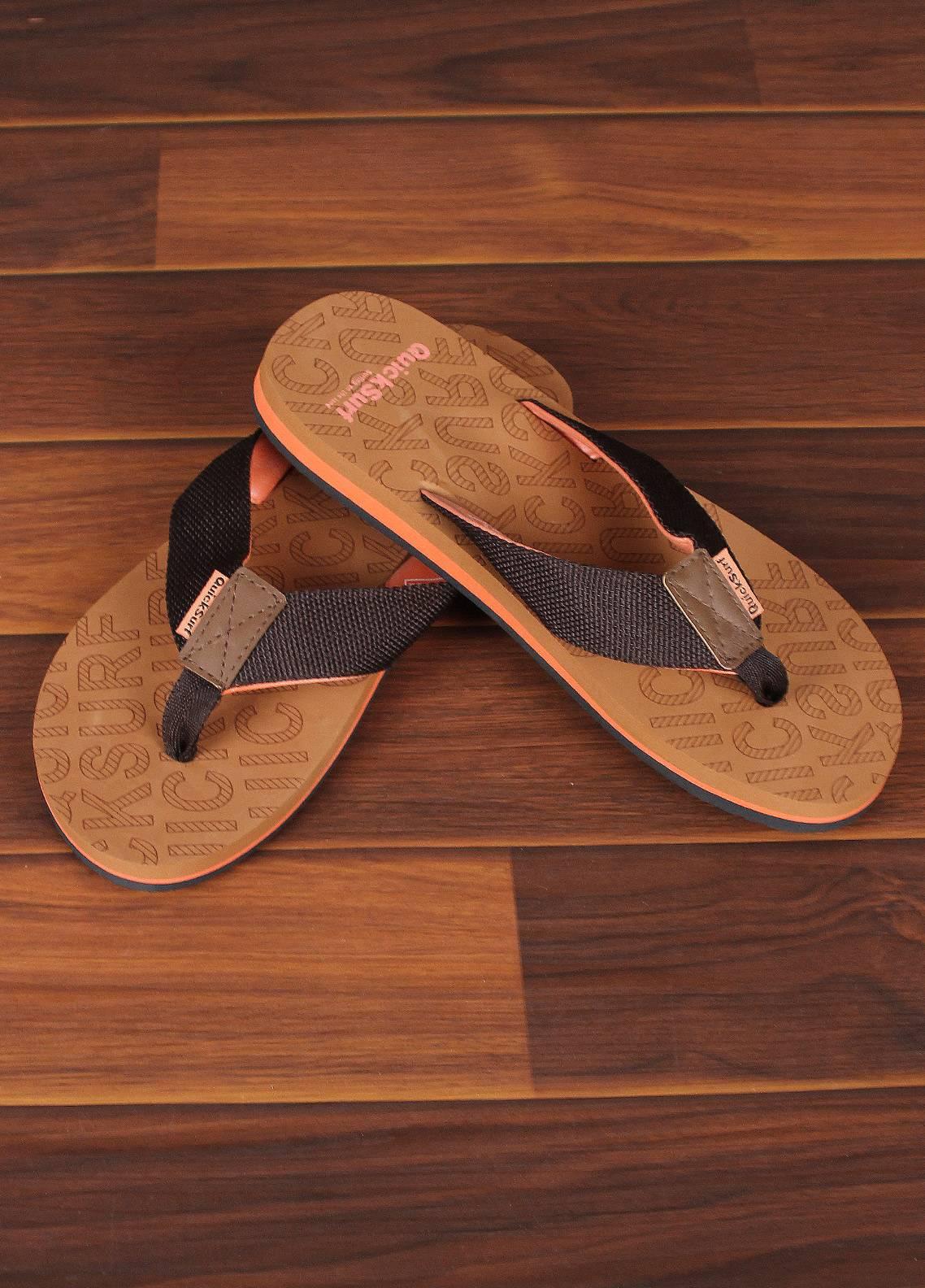 Sanaulla Exclusive Range  Rubber Flip Flops For Men 2370 Brown