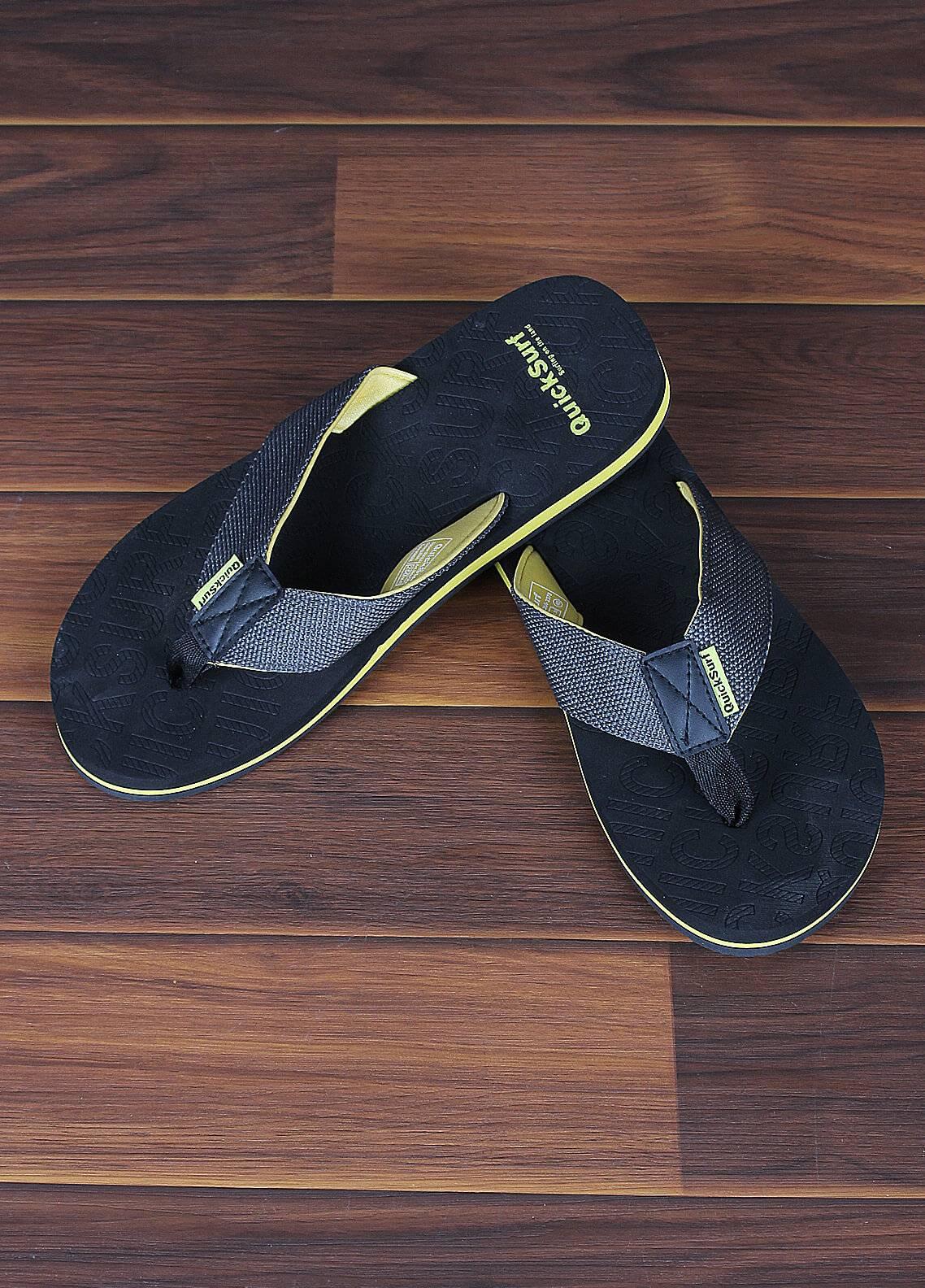 Sanaulla Exclusive Range  Rubber Flip Flops For Men 2370 Grey