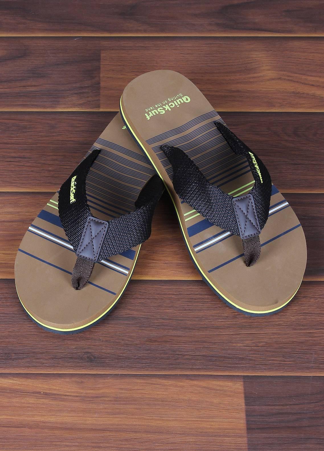 Sanaulla Exclusive Range  Rubber Flip Flops For Men 2385 Black