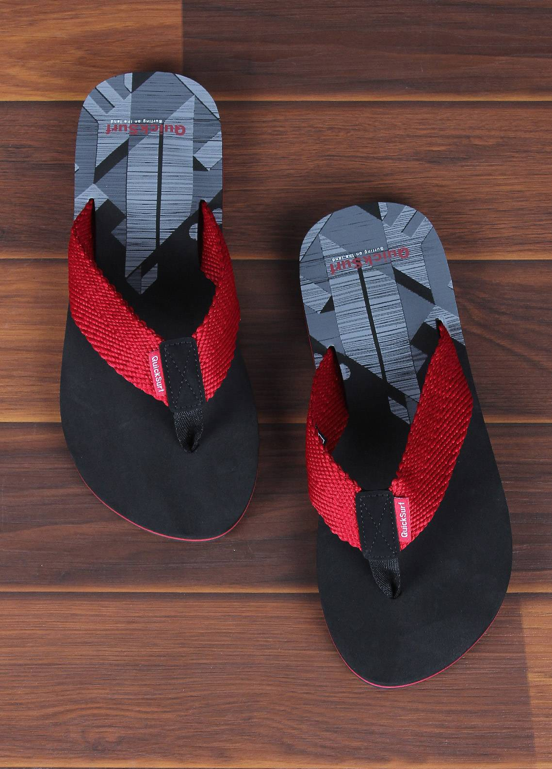 Sanaulla Exclusive Range  Rubber Flip Flops For Men 2389 Red