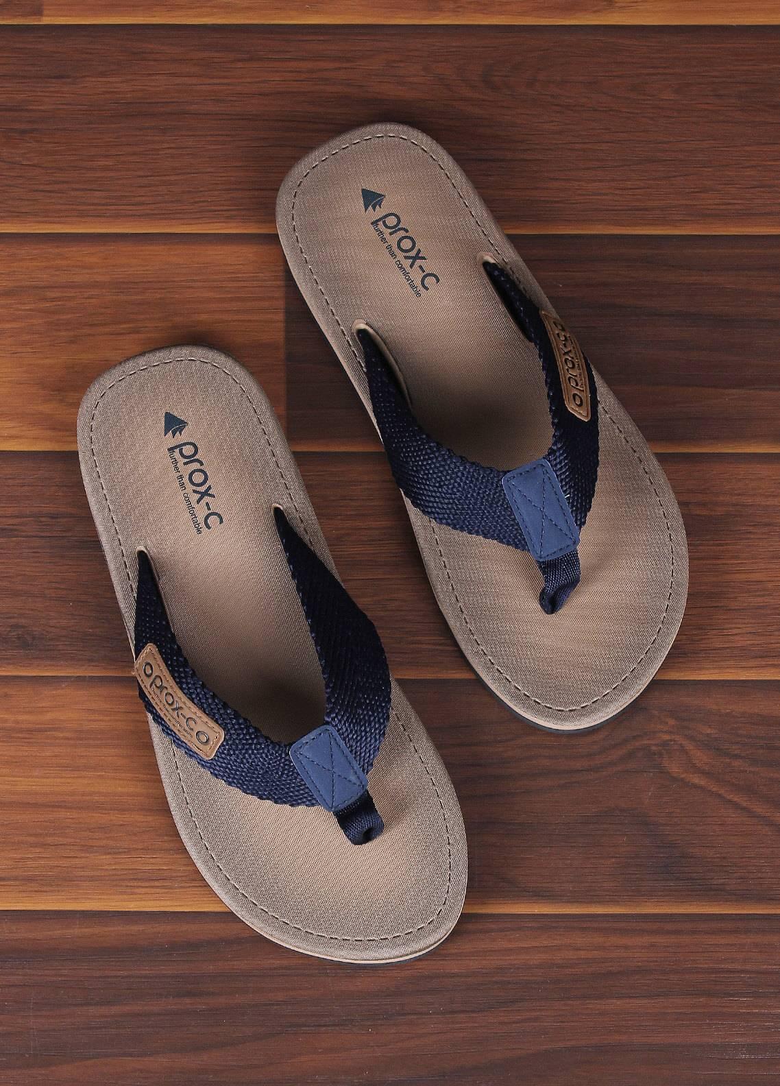 Sanaulla Exclusive Range  Rubber Flip Flops For Men 330 Blue
