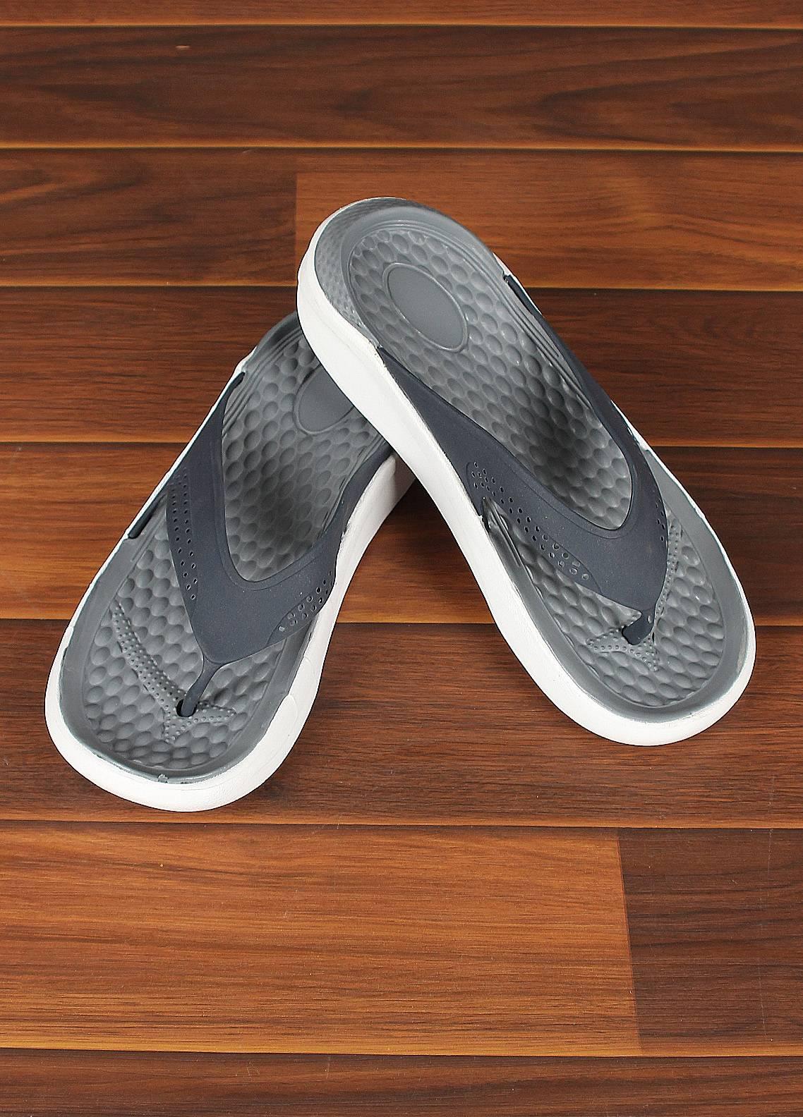 Sanaulla Exclusive Range  Rubber Flip Flops For Men 807 Blue