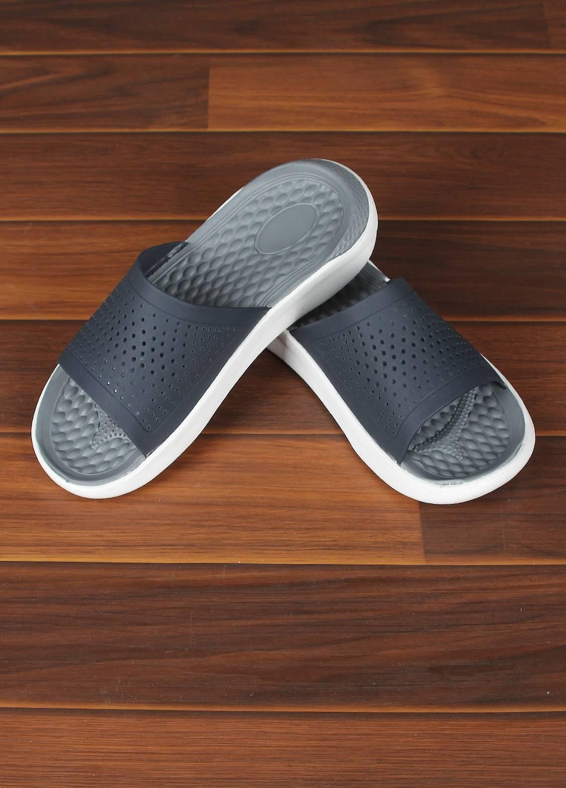 Sanaulla Exclusive Range  Rubber Flip Flops For Men 808 Blue