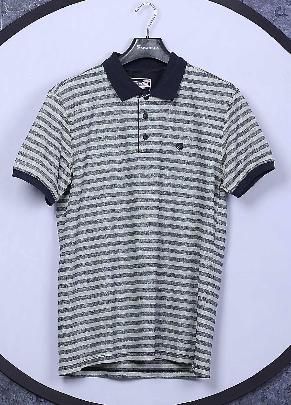 Sanaulla Exclusive Range Cotton Casual T-Shirts for Men -  5004 Green
