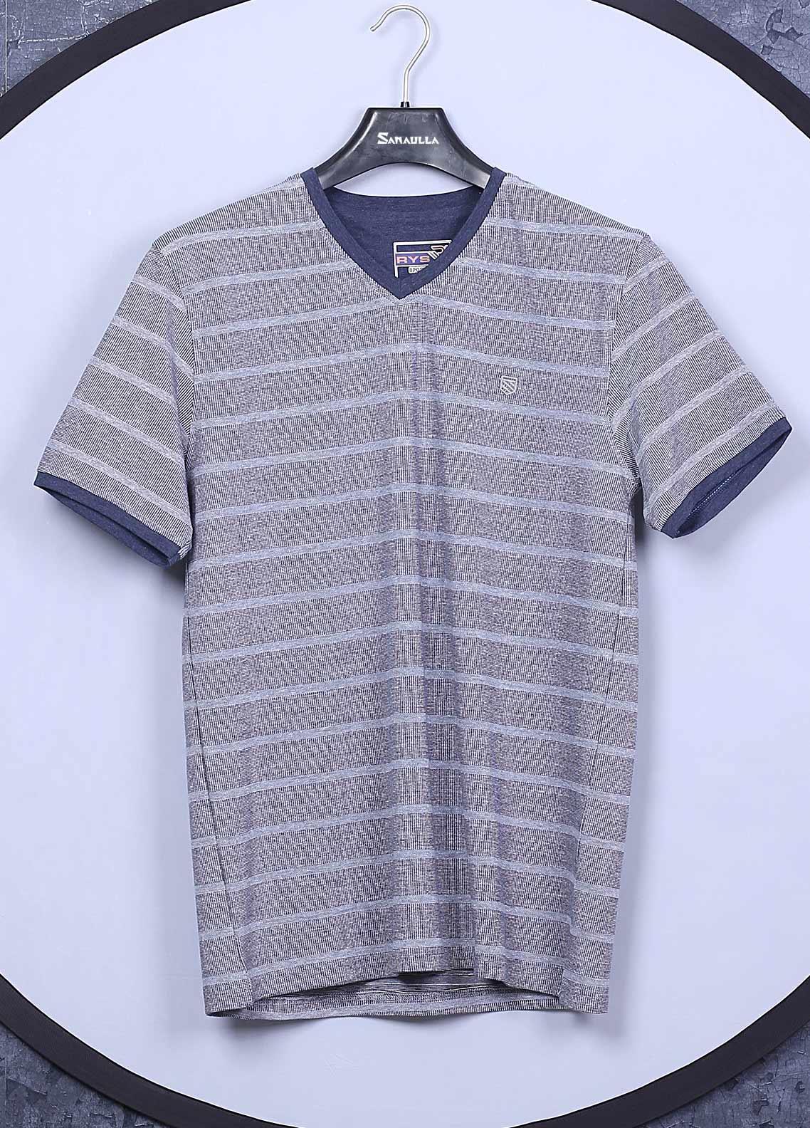 Sanaulla Exclusive Range Cotton Casual Mens T-Shirts -  5407 Light Grey