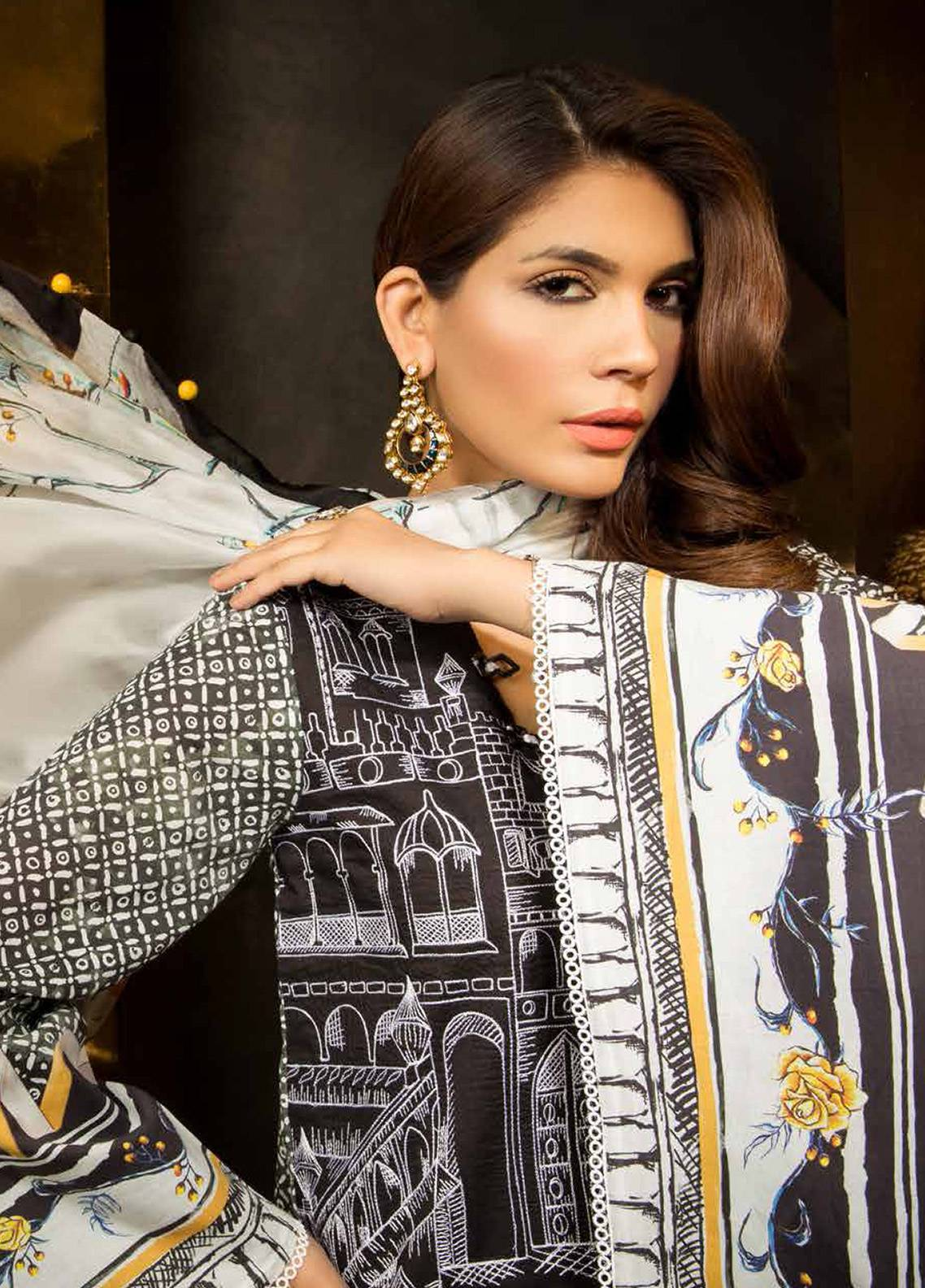 Mahgul by Al Zohaib Embroidered Lawn Unstitched 3 Piece Suit MG18E 04 - Eid Collection