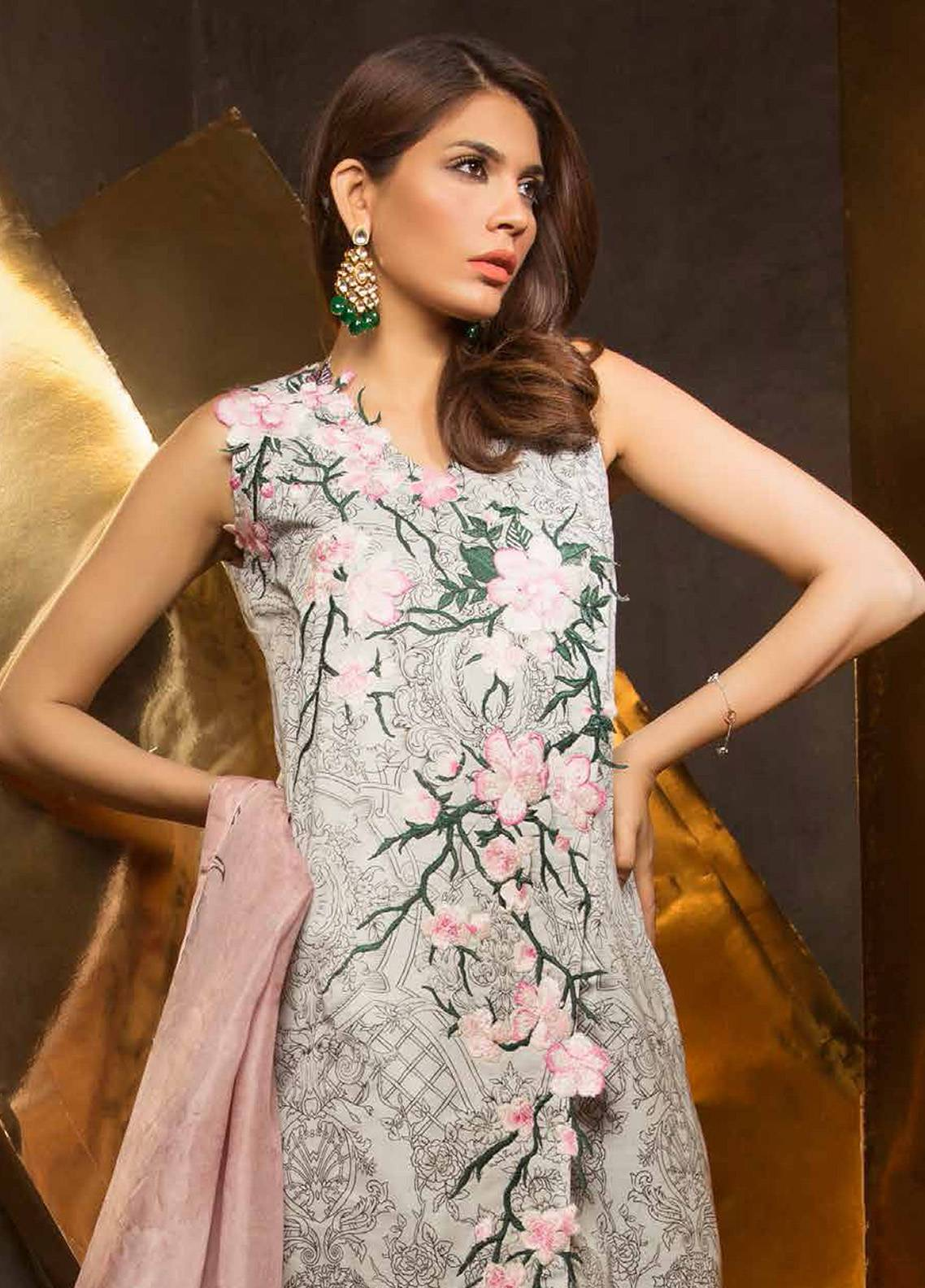 Mahgul by Al Zohaib Embroidered Lawn Unstitched 3 Piece Suit MG18E 08 - Eid Collection