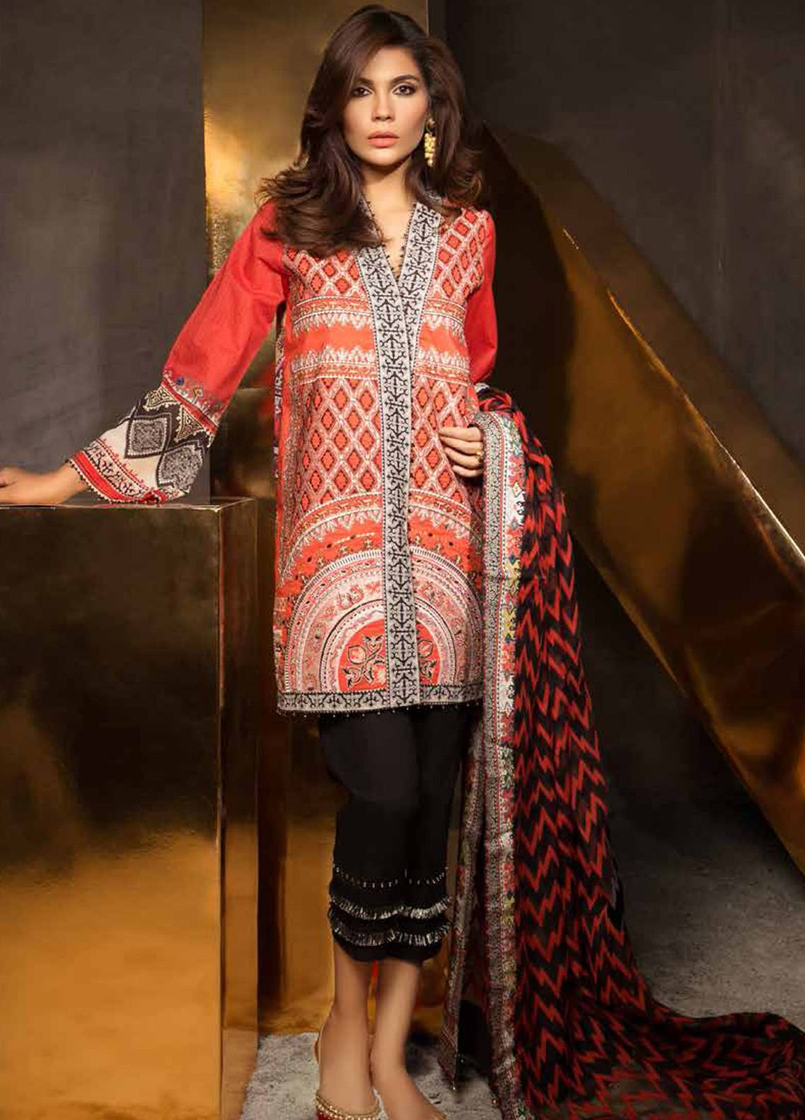 Mahgul by Al Zohaib Embroidered Lawn Unstitched 3 Piece Suit MG18E 3A - Eid Collection
