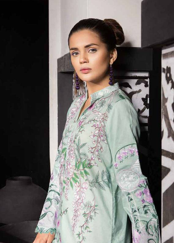 Mahgul by Al Zohaib Embroidered Lawn Unstitched 3 Piece Suit MG18L 9A - Spring / Summer Collection