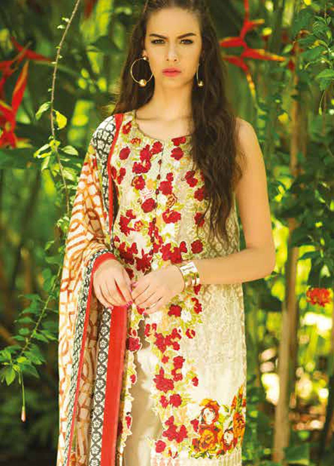 Maheen Taseer Embroidered Lawn Unstitched 3 Piece Suit MHT18L 10A - Spring / Summer Collection