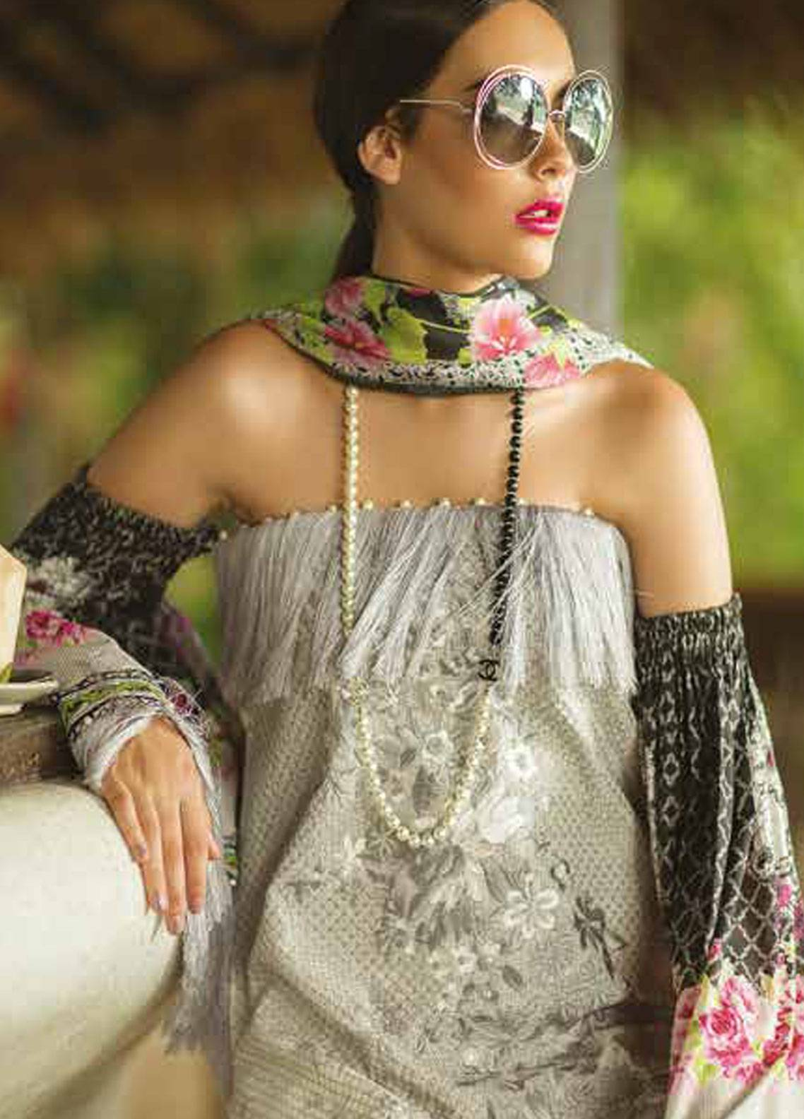 Maheen Taseer Embroidered Lawn Unstitched 3 Piece Suit MHT18L 5A - Spring / Summer Collection
