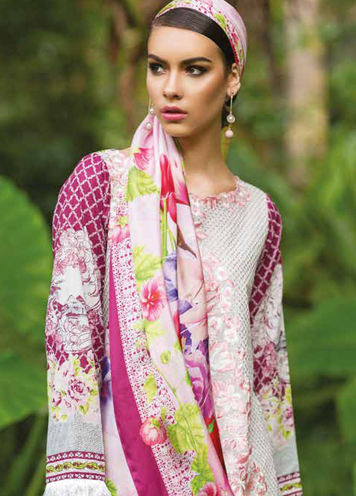 Maheen Taseer Embroidered Lawn Unstitched 3 Piece Suit MHT18L 5B - Spring / Summer Collection