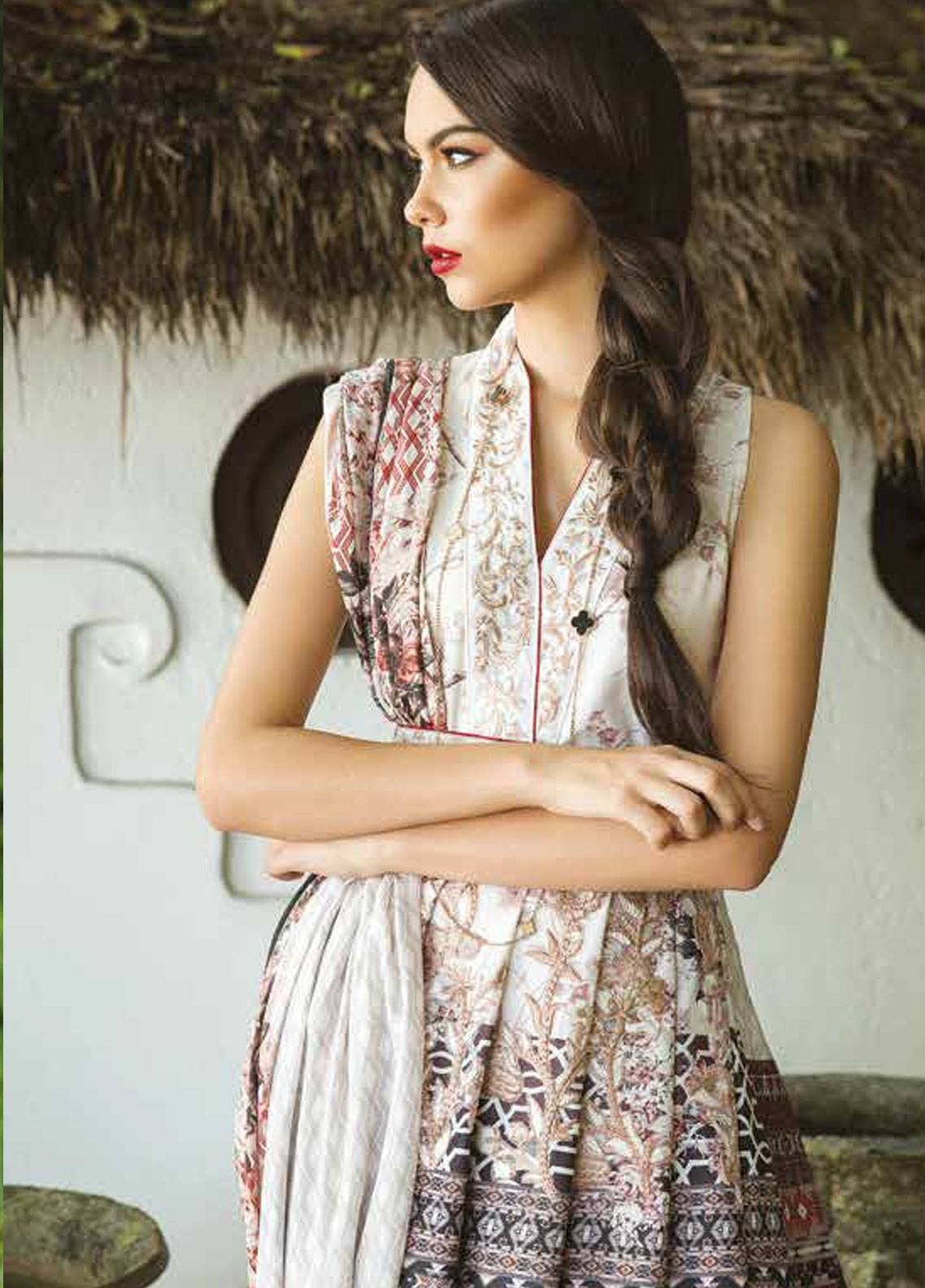Maheen Taseer Embroidered Lawn Unstitched 3 Piece Suit MHT18L 8A - Spring / Summer Collection