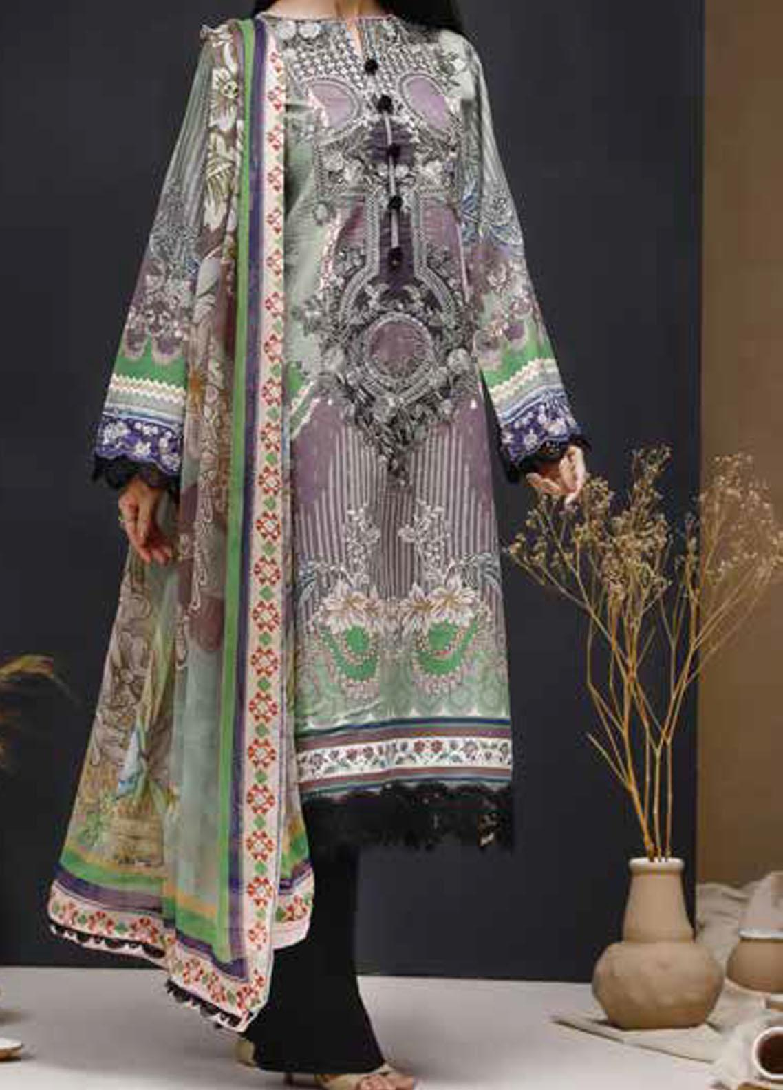 Mishkal by Rungrez Embroidered Lawn Unstitched 3 Piece Suit RNG20BW 05 - Black & White Collection