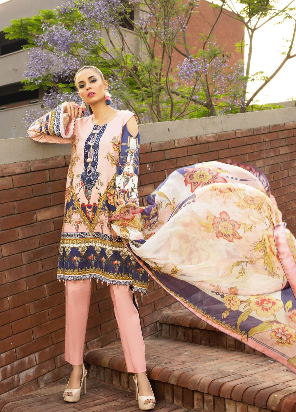 Mishkal by Rungrez Embroidered Lawn Unstitched 3 Piece Suit MSK19L 01 - Festive Collection