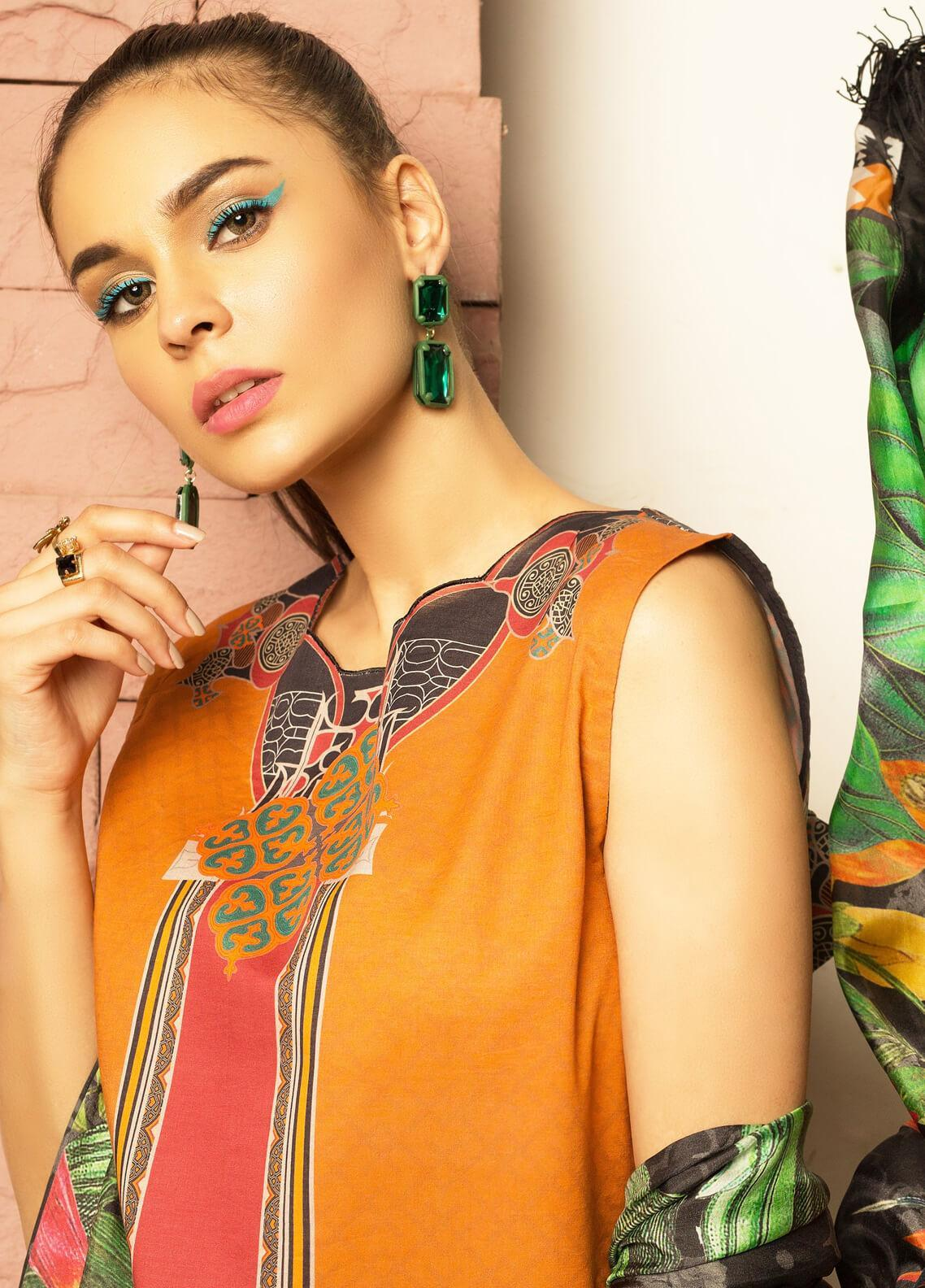 Mishkal by Rungrez Embroidered Lawn Unstitched 3 Piece Suit MSK19L 03 - Festive Collection