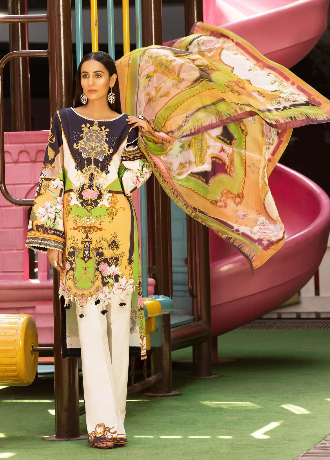 Mishkal by Rungrez Embroidered Lawn Unstitched 3 Piece Suit MSK19L 04 - Festive Collection