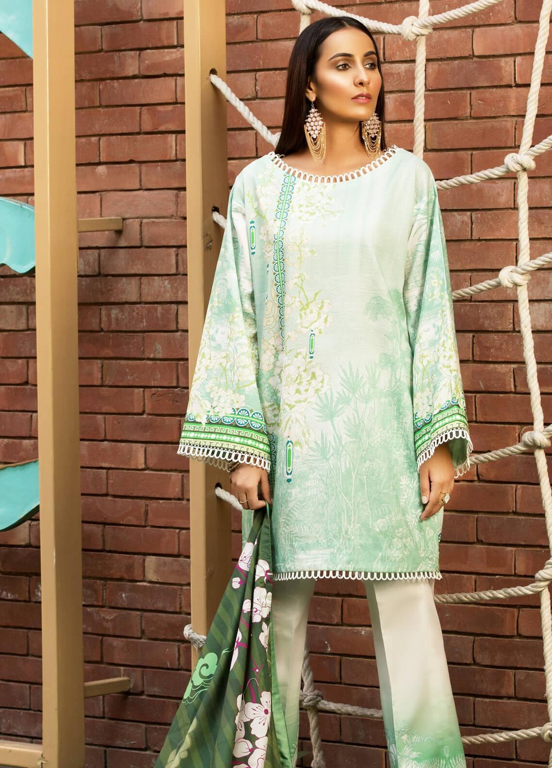 Mishkal by Rungrez Embroidered Lawn Unstitched 3 Piece Suit MSK19L 06 - Festive Collection