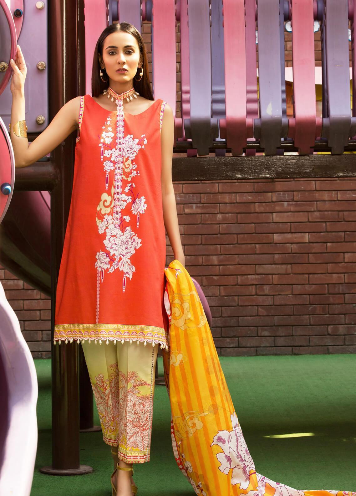 Mishkal by Rungrez Embroidered Lawn Unstitched 3 Piece Suit MSK19L 11 - Festive Collection