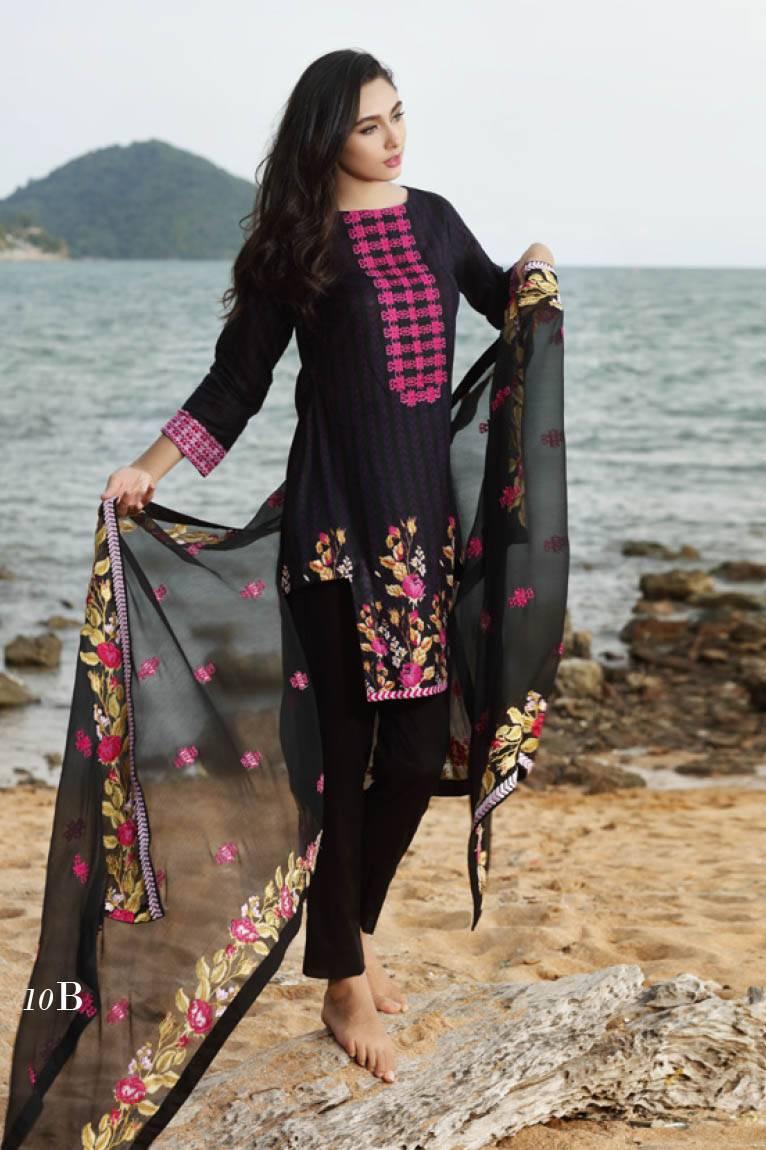 Al Zohaib Embroidered Lawn Unstitched 3 Piece Suit MN17E 10B