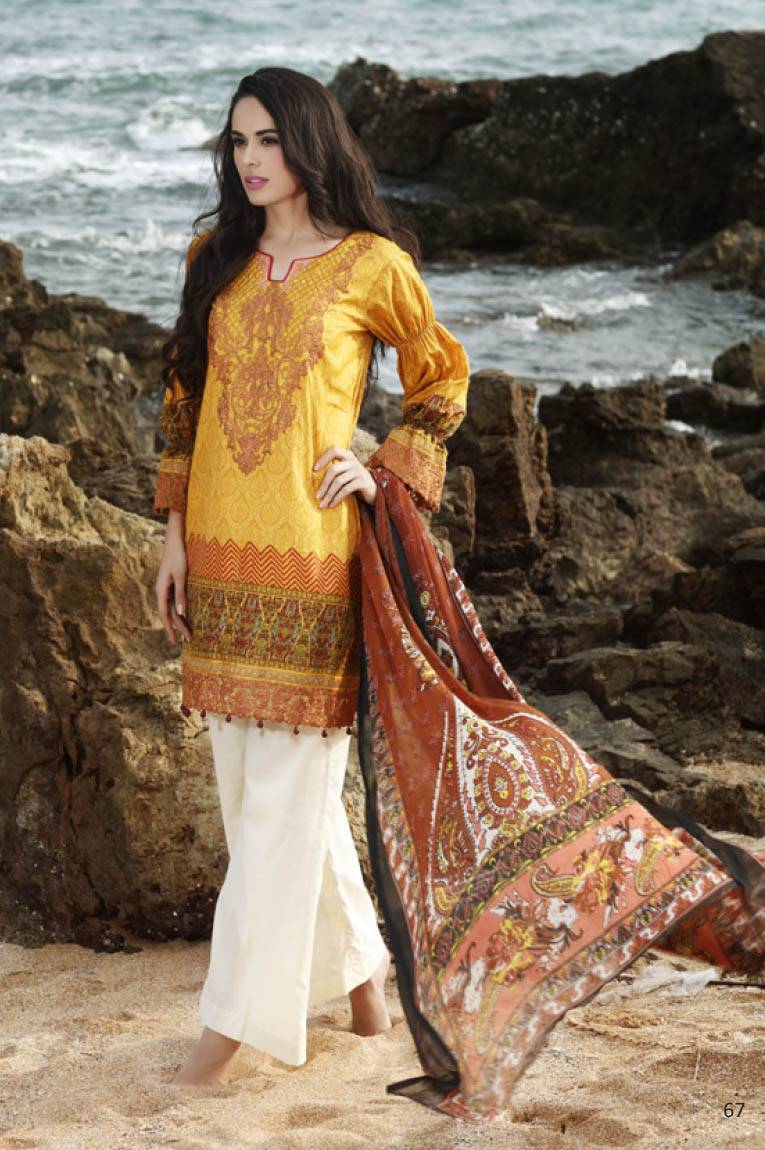 Al Zohaib Embroidered Lawn Unstitched 3 Piece Suit MN17E 11