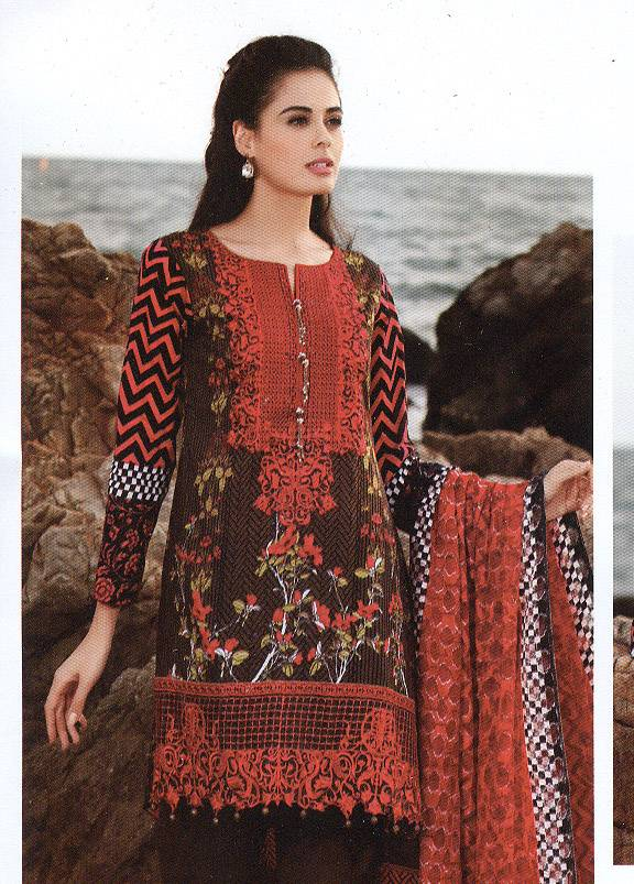 Al Zohaib Embroidered Lawn Unstitched 3 Piece Suit MN17E 2A