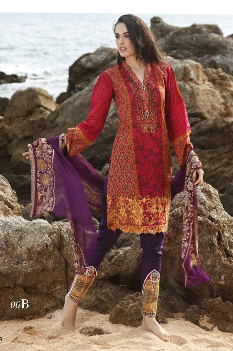 Al Zohaib Embroidered Lawn Unstitched 3 Piece Suit MN17E 6B