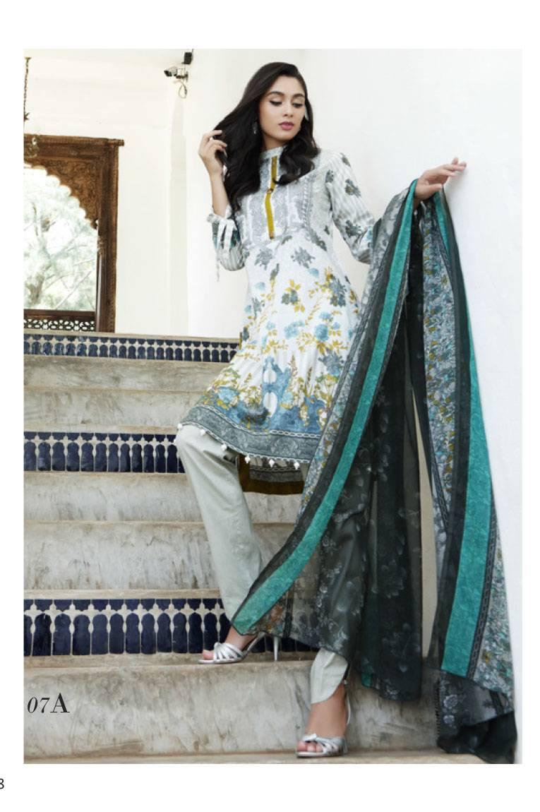 Al Zohaib Embroidered Lawn Unstitched 3 Piece Suit MN17E 7A