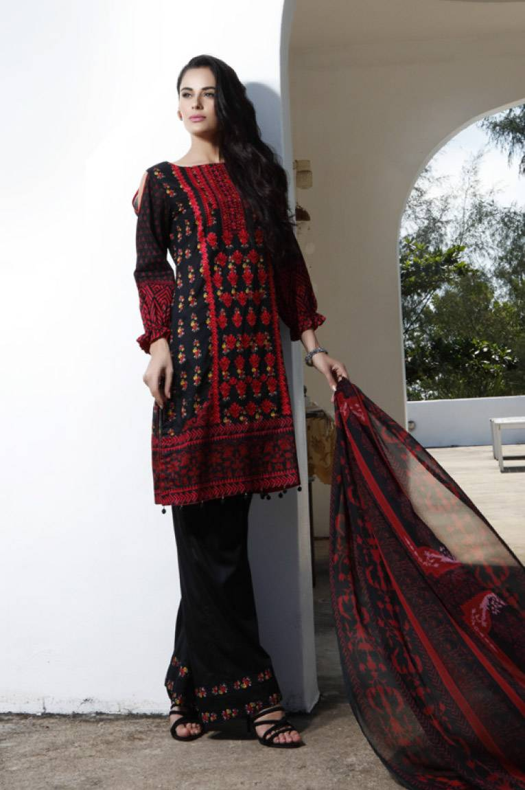 Al Zohaib Embroidered Lawn Unstitched 3 Piece Suit MN17E 8A