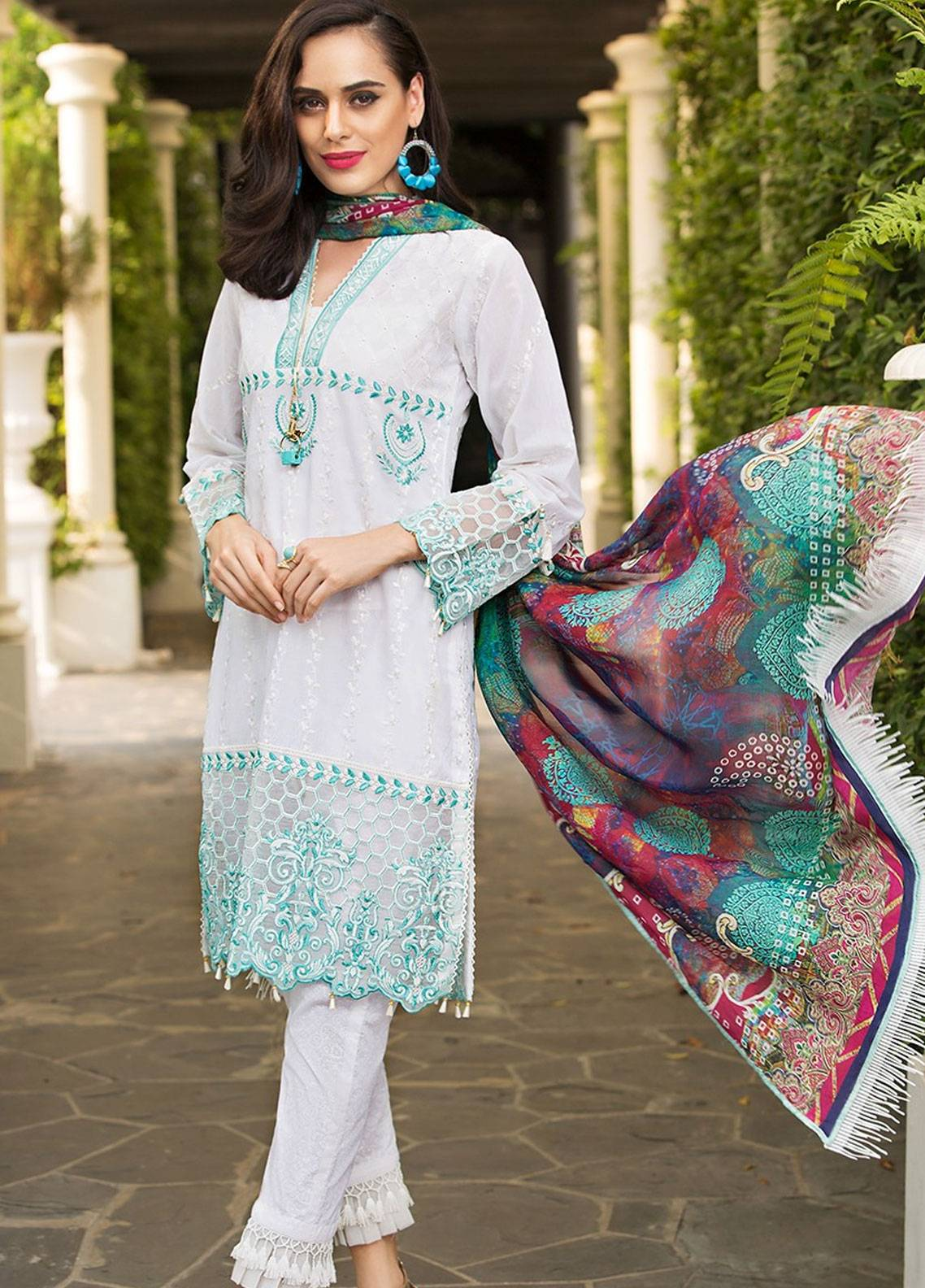 Mohagni Embroidered Lawn Unstitched 3 Piece Suit MOG19F 05 - Festive Collection