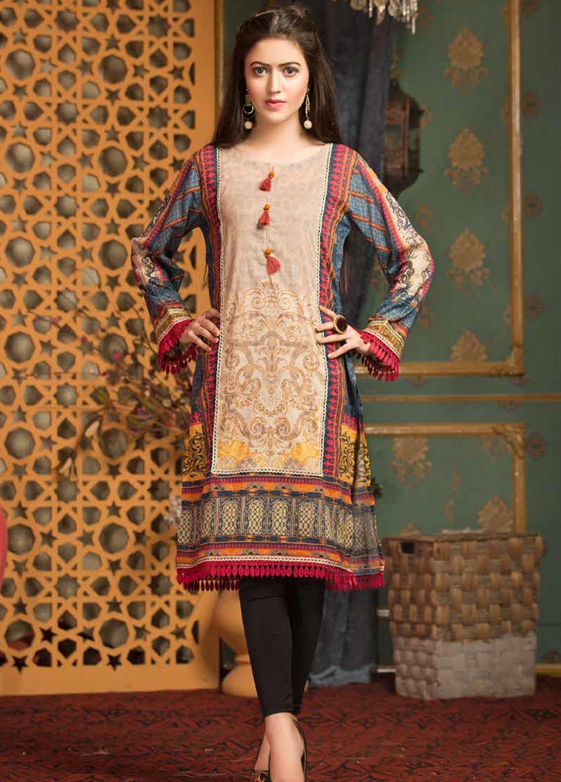 Mohagni Printed Lawn Unstitched Kurties MO20T 5 - Spring / Summer Collection