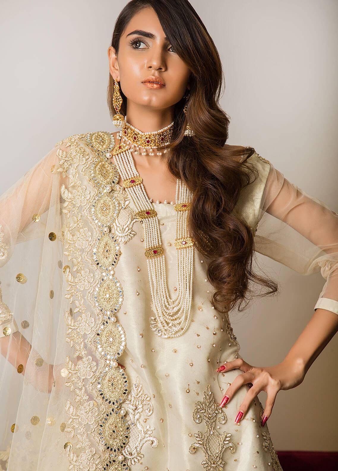 Momal Khan Embroidered  Stitched Bridal Suit MK-08B Sangrai
