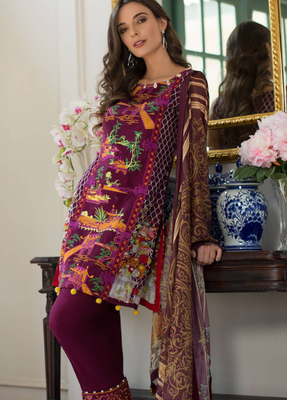 ce1f21551c Monsoon Festivana by Al Zohaib Embroidered Lawn Unstitched 3 Piece Suit  MNF19L 2A - Spring Summer Collection