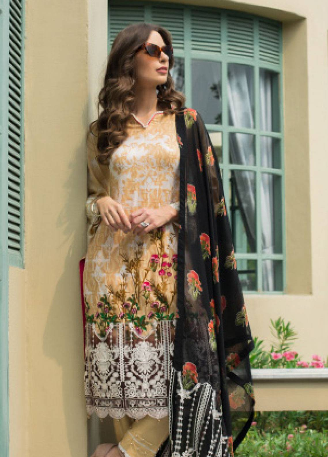 3171a54c48 Monsoon Festivana by Al Zohaib Embroidered Lawn Unstitched 3 Piece Suit  MNF19L 5A - Spring Summer Collection