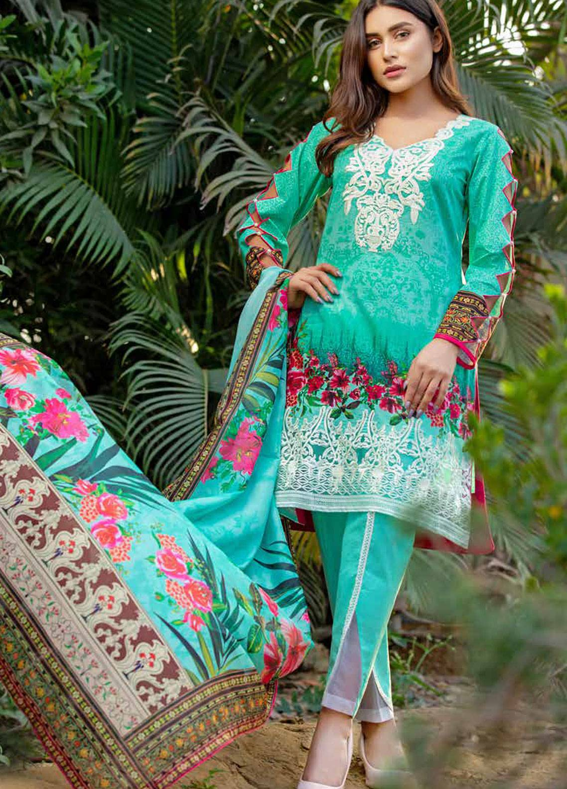 27c07c360a Monsoon Festivana by Al Zohaib Embroidered Lawn Unstitched 3 Piece Suit  MNF19-L2 5A - Spring / Summer Collection