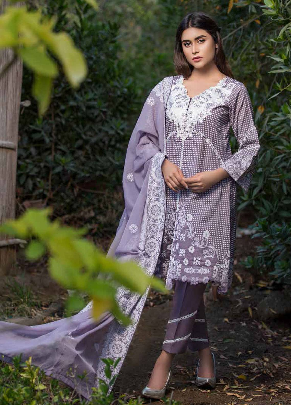 d7e881d372 Monsoon Festivana by Al Zohaib Embroidered Lawn Unstitched 3 Piece Suit  MNF19-L2 6A - Spring / Summer Collection